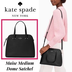 Just In! NWT Kate Spade Blk Maise Med Dome Satchel